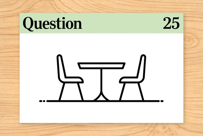 question 25 brain teasers move while sitting