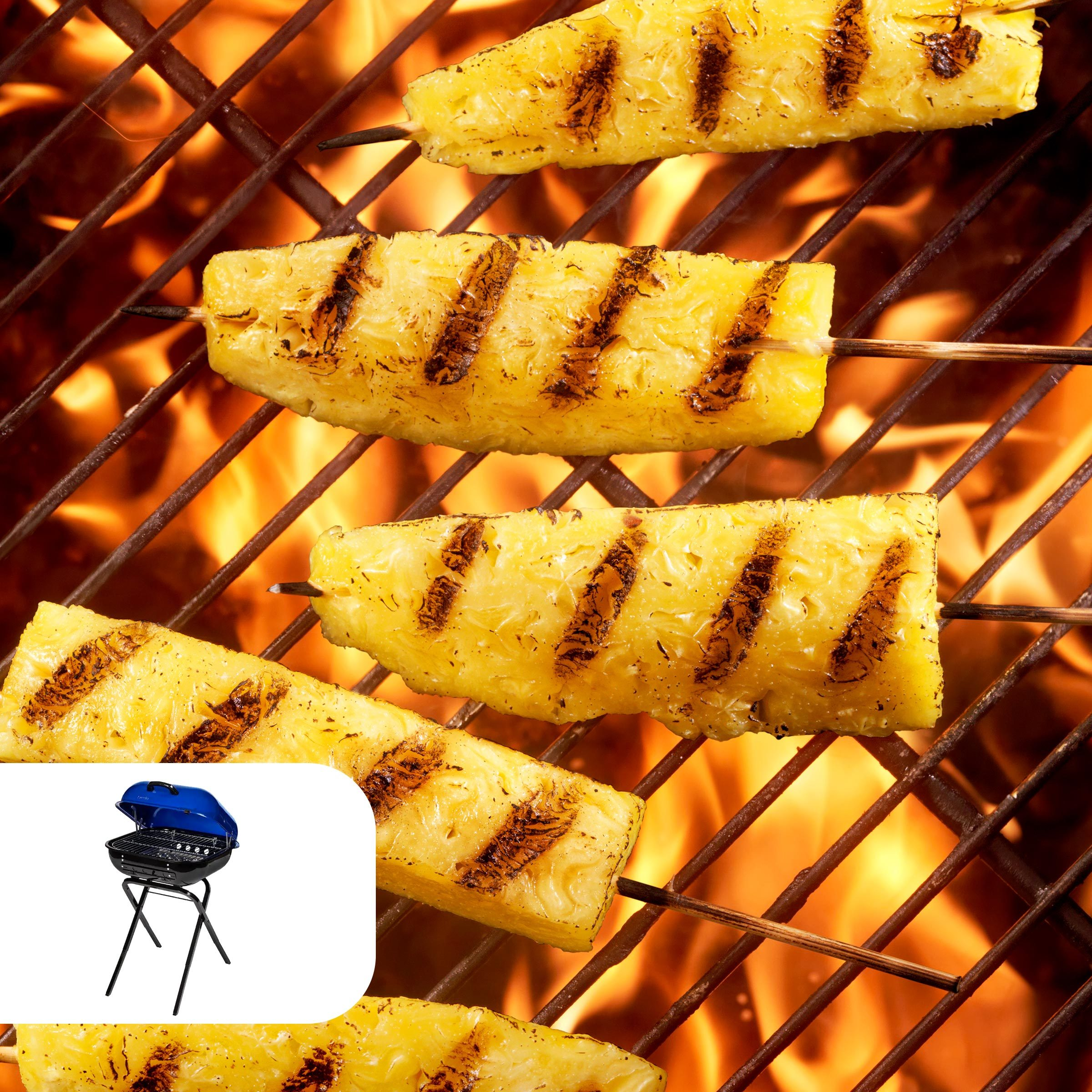 Grilled caramelized pineapple