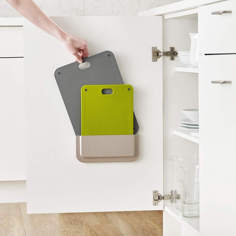 storage inside cabinet door