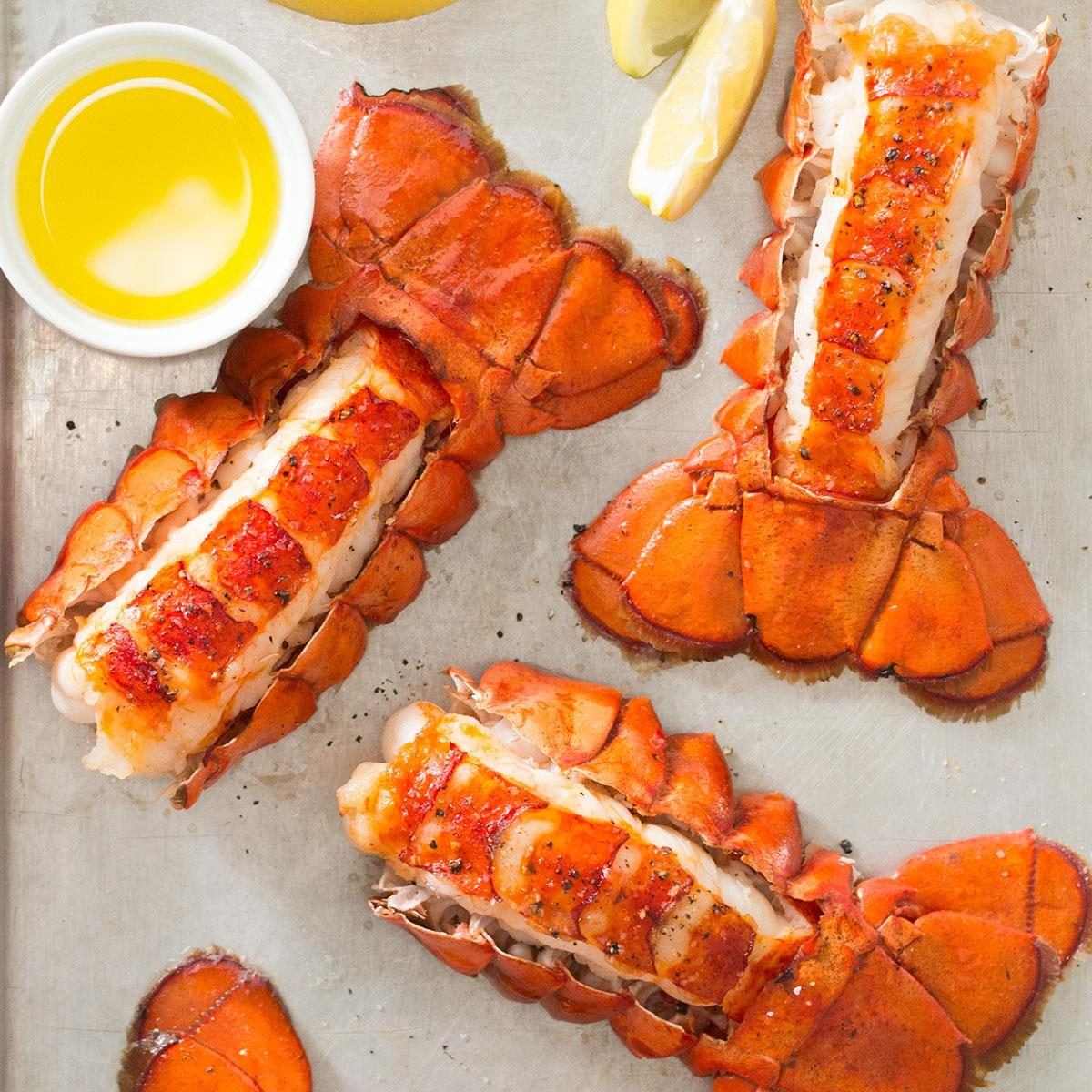 January: Broiled Lobster Tail