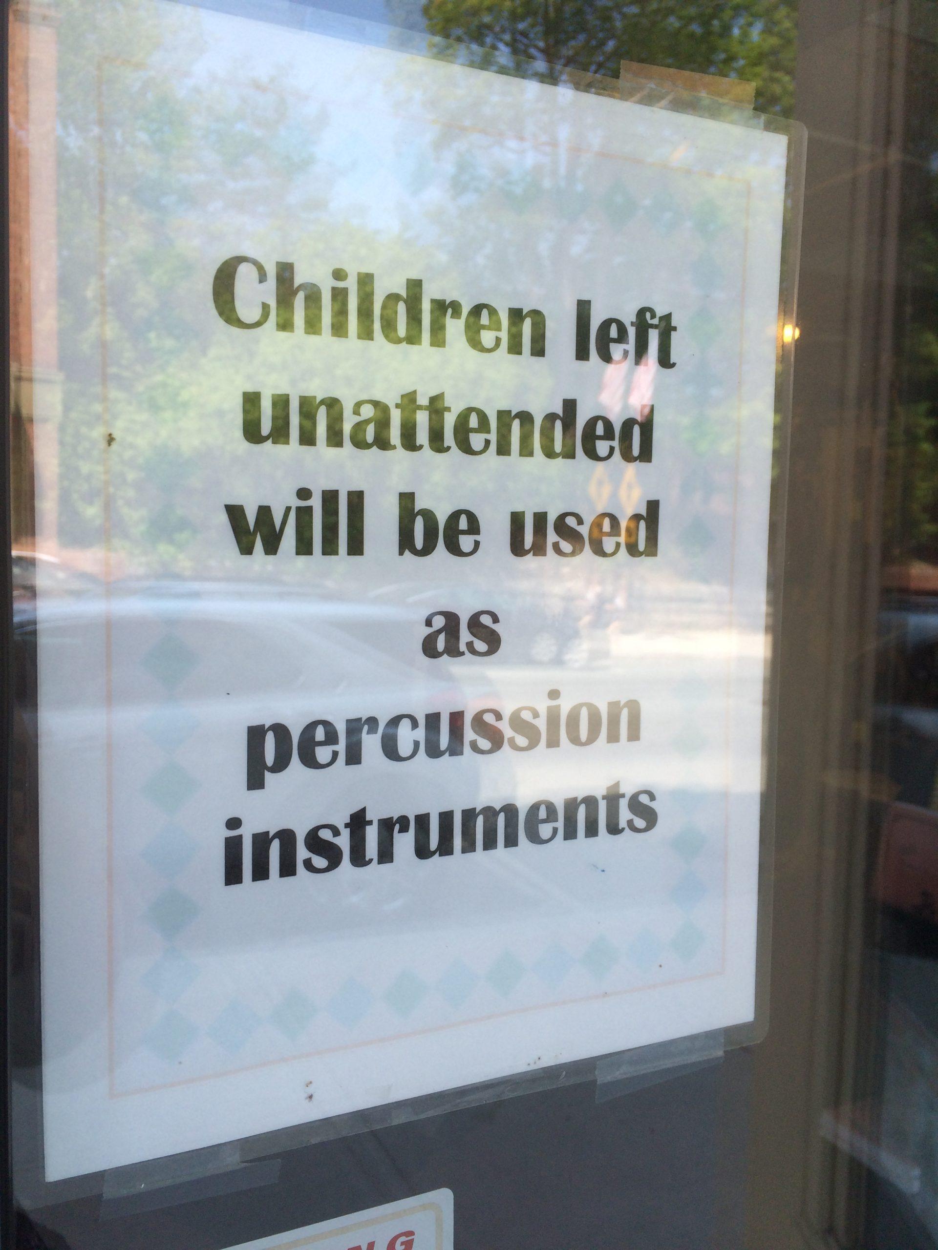 Store Warning Sign