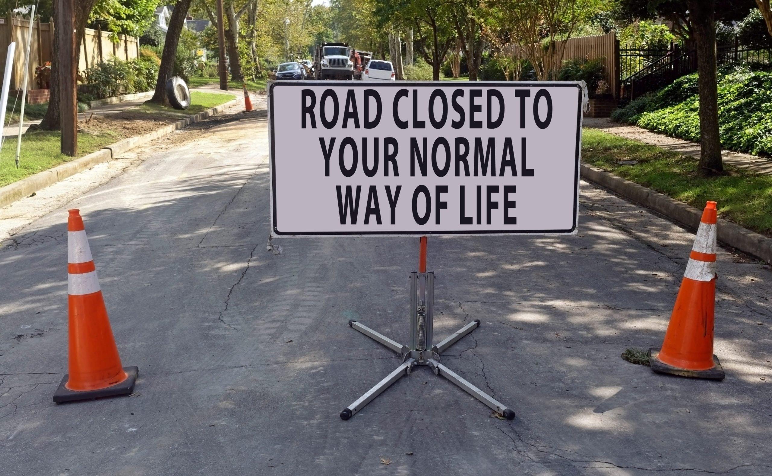 Humorous Construction Barricade