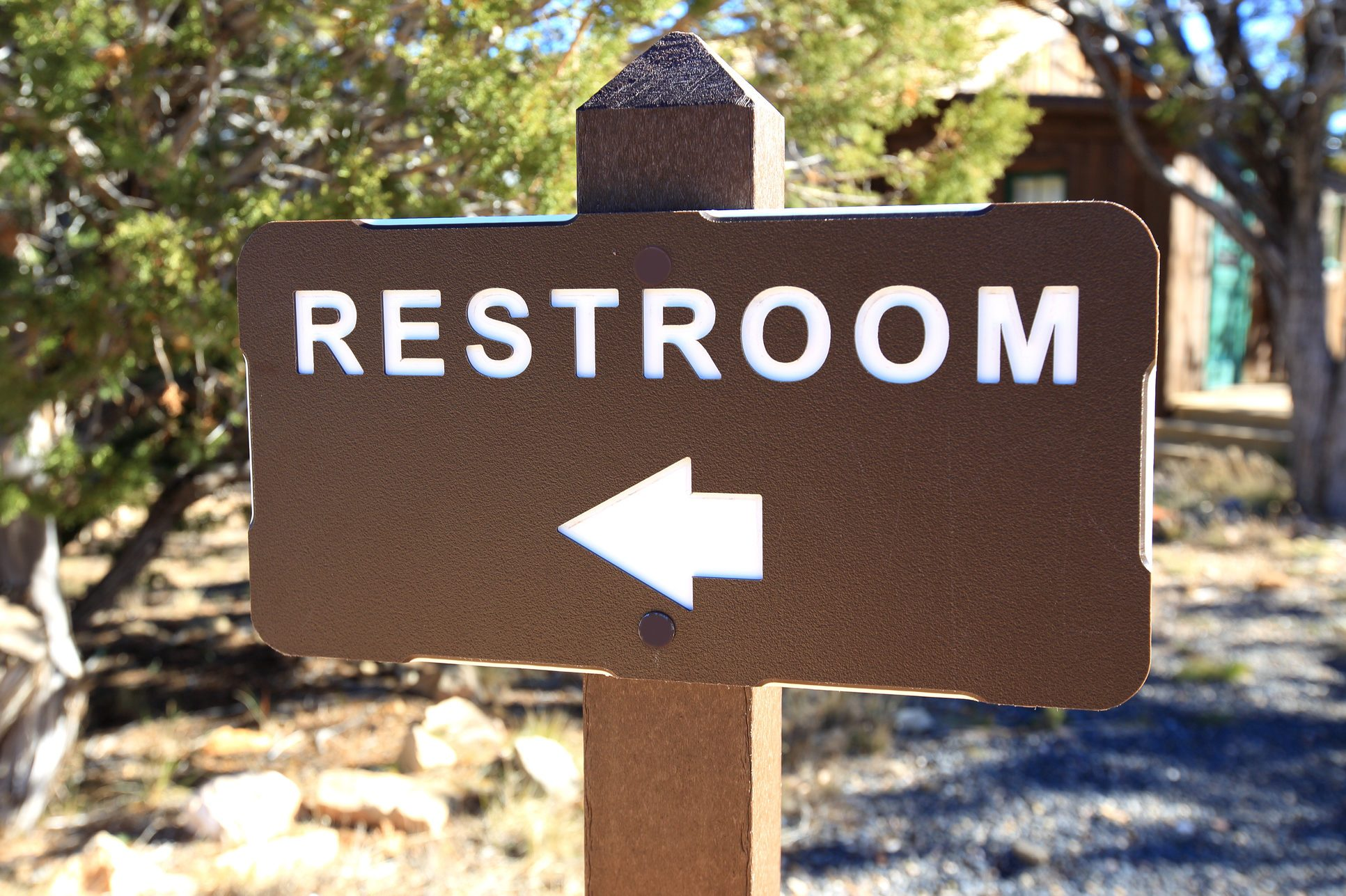 Restroom Sign in Bryce Canyon