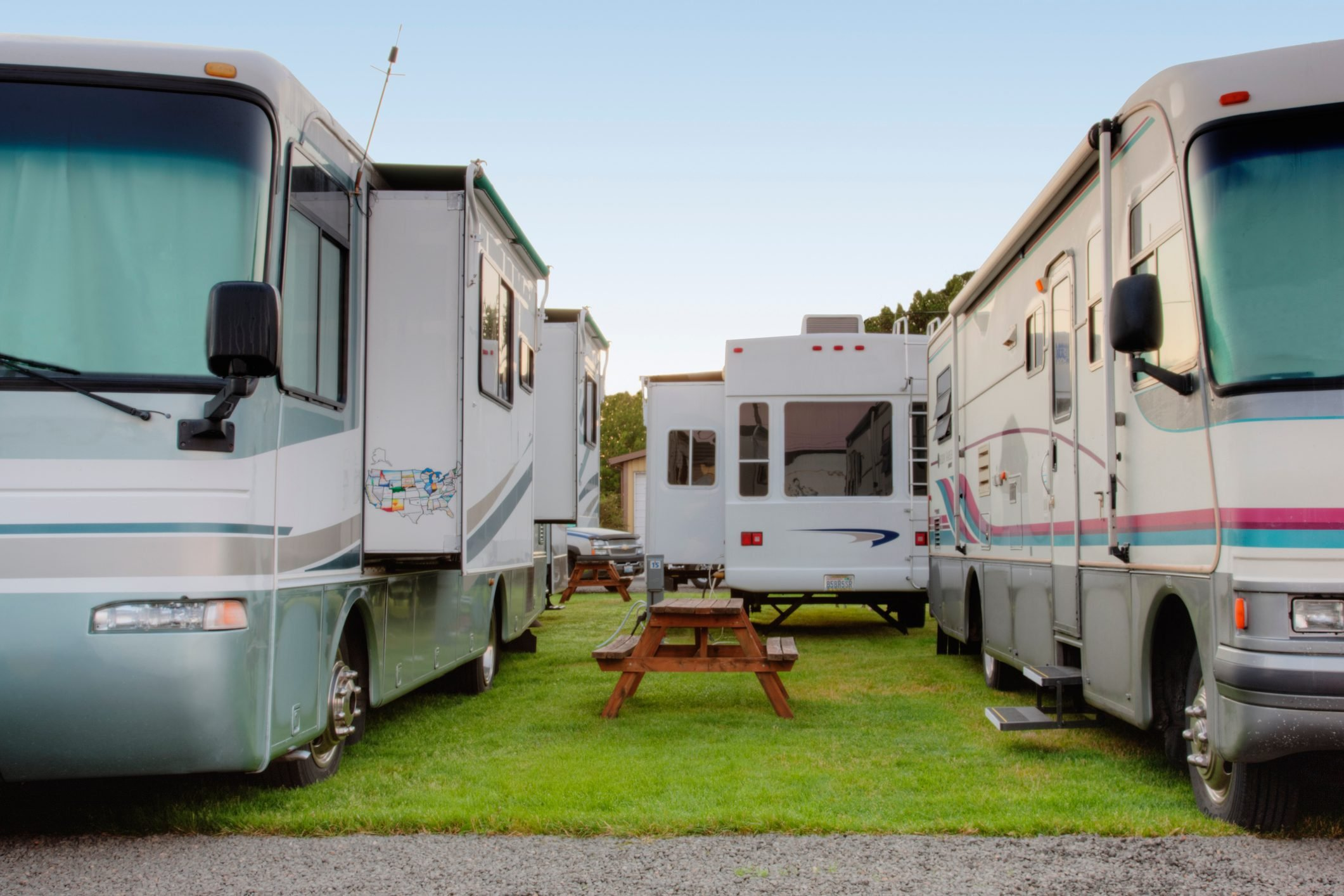 RVs in park