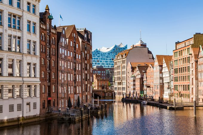 Germany, Hamburg, Old Town, Town houses at Nikolai Fleet