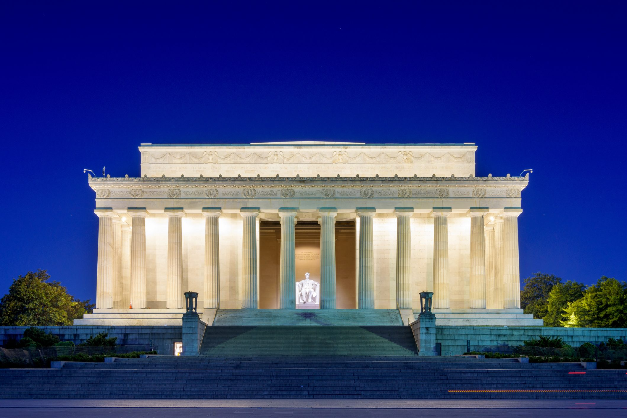 Lincoln Memorial in Washington DC in early morning, springtime