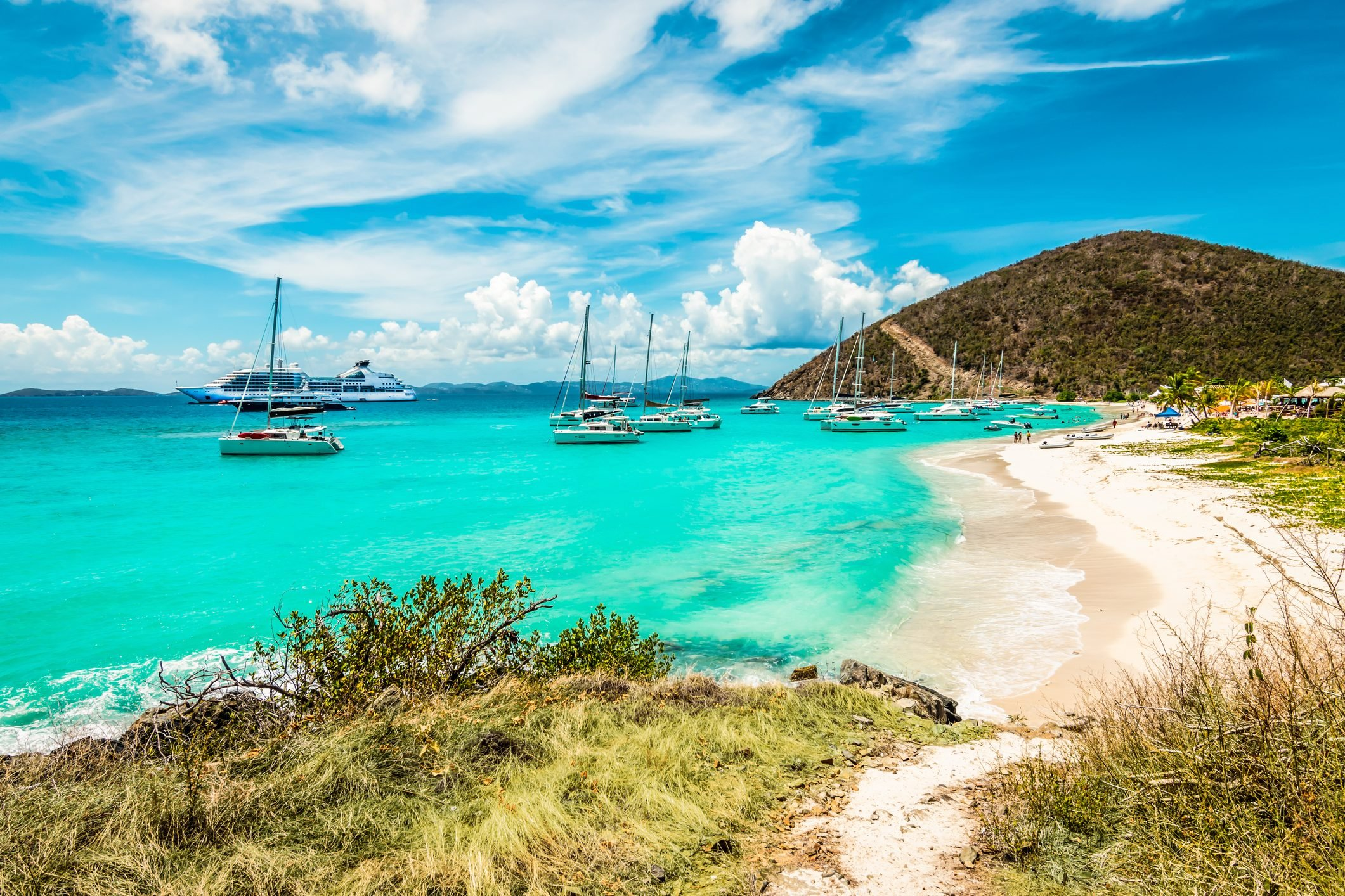 White Bay Beach, Jost Van Dyke, British Virgin Islands.