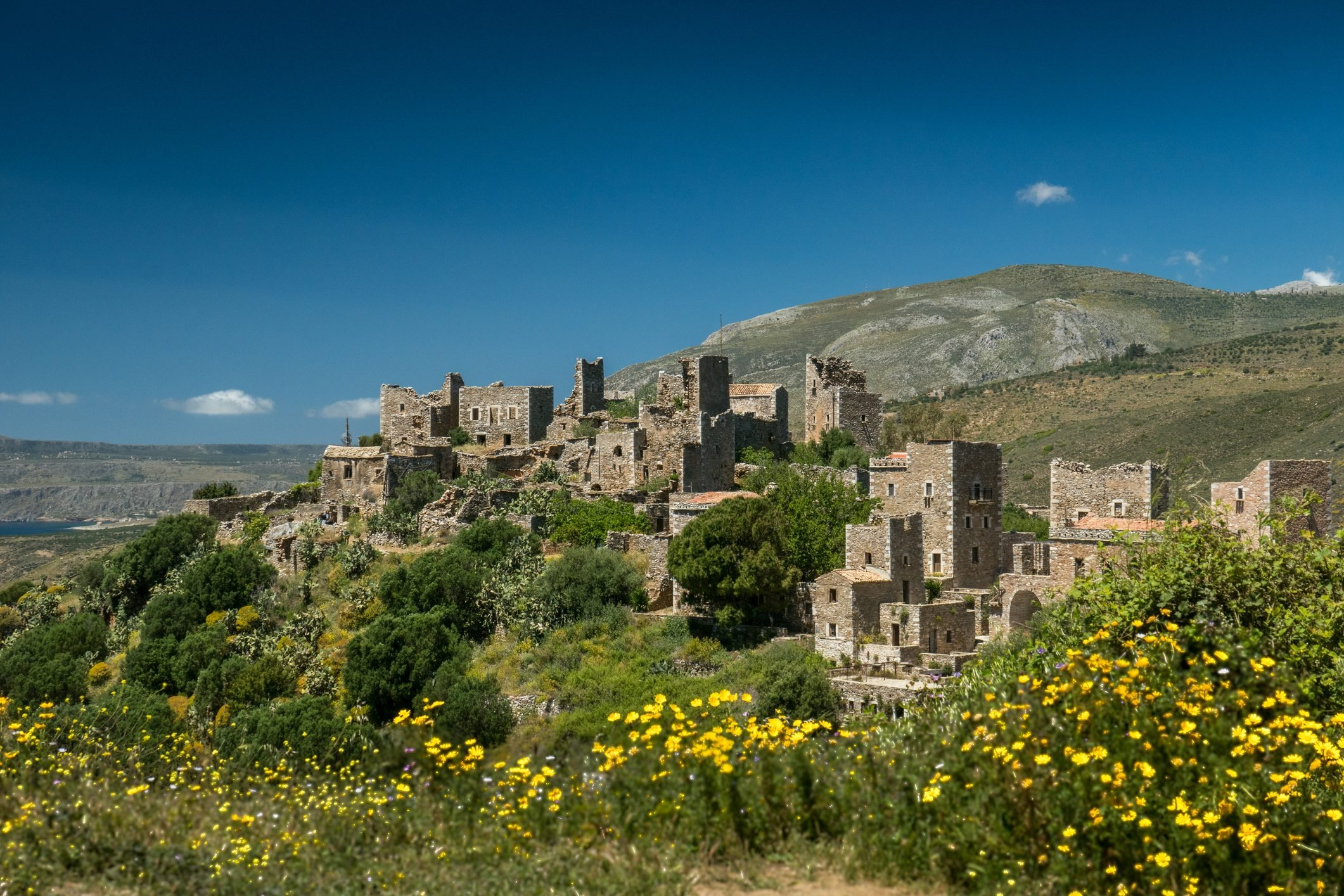 The tower houses of Vathia in southern Greece (Peloponnesos)