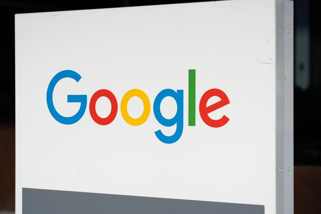 American multinational technology company Google logo seen...