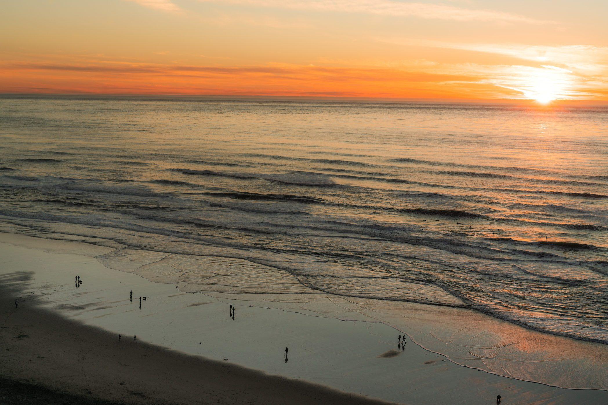 Sunset at Ocean Beach San Francisco California