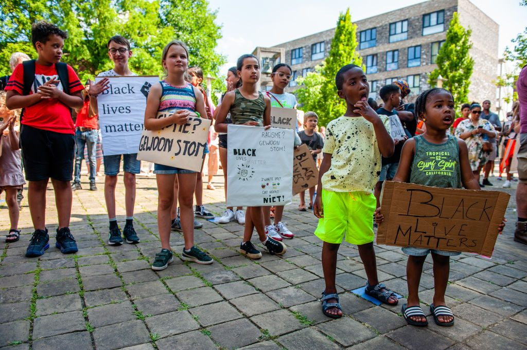 Black Lives Matter Children Demonstration In Diemen, Netherlands