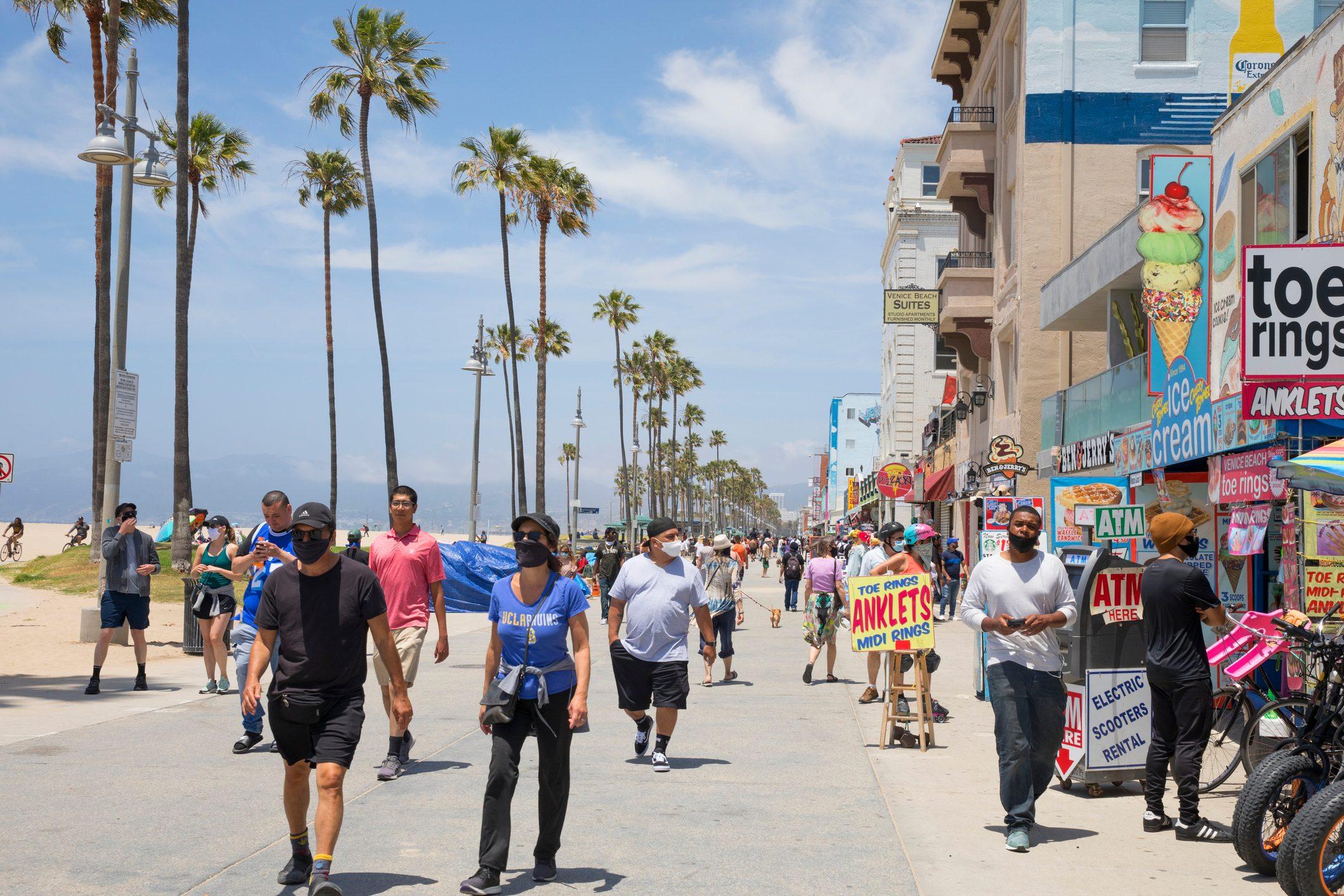 Venice Beach California during COVID-19