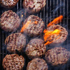 Cooking beef burger patties