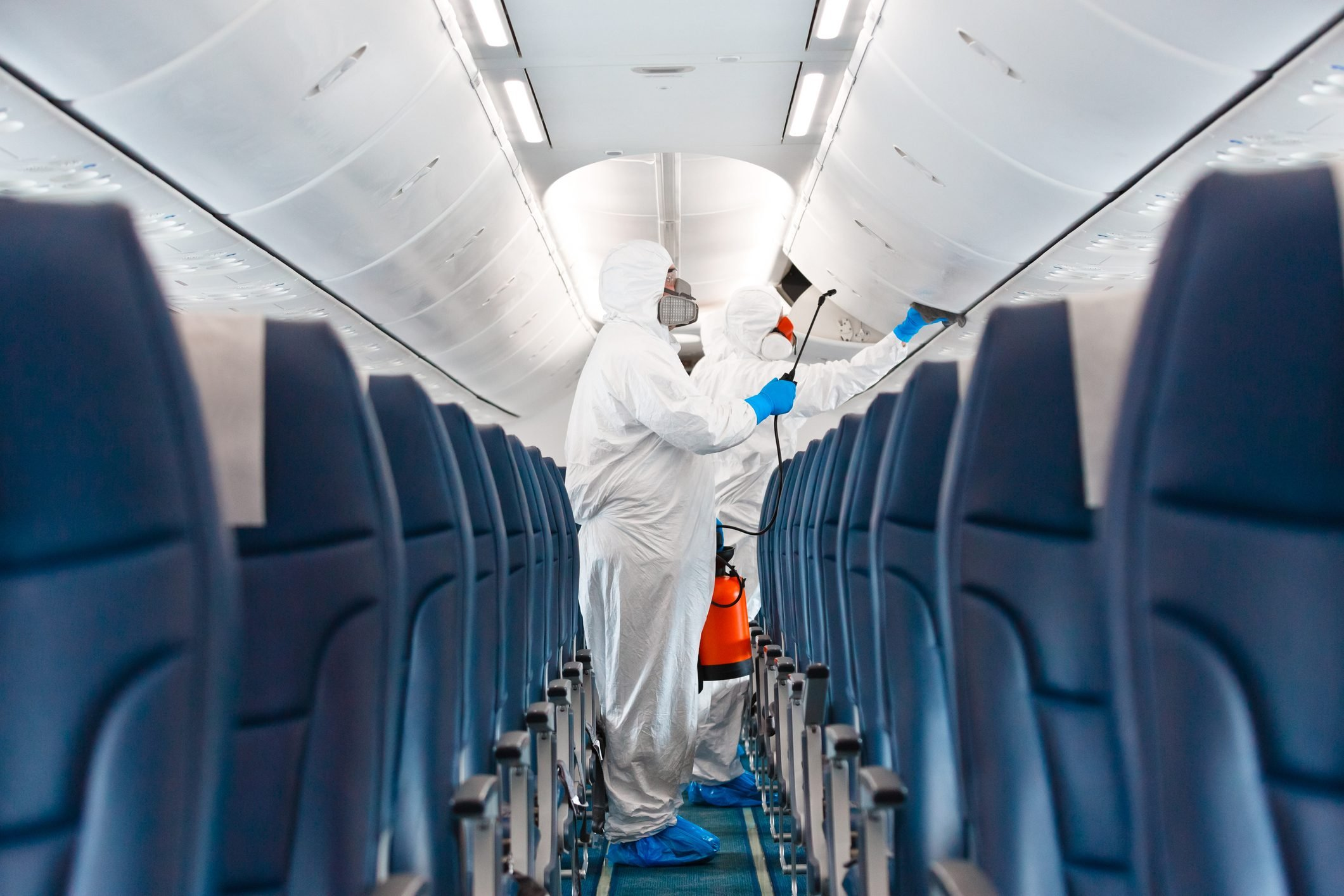 Airplane disinfection due to COVID-19