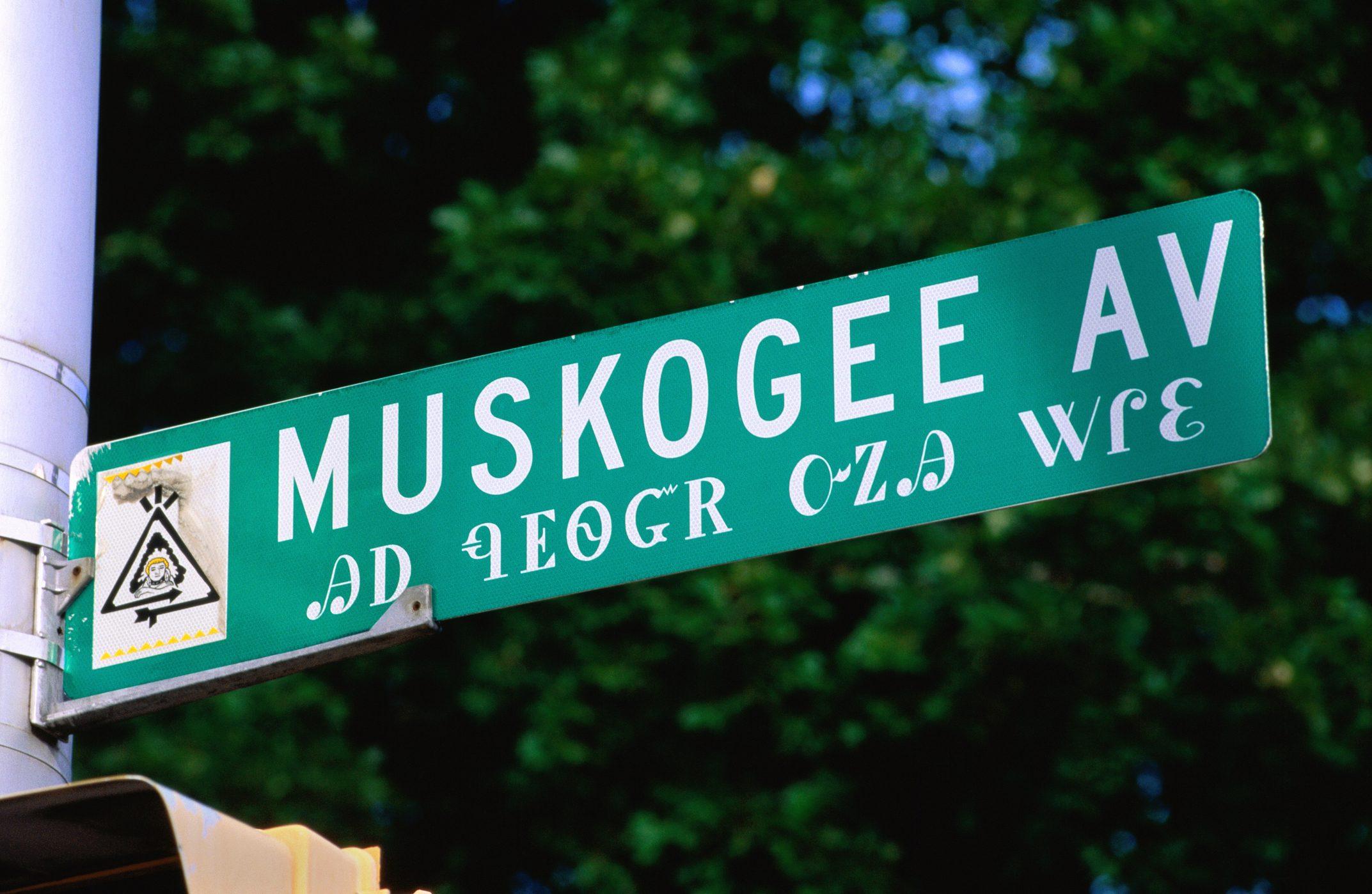 Street sign in Cherokee.