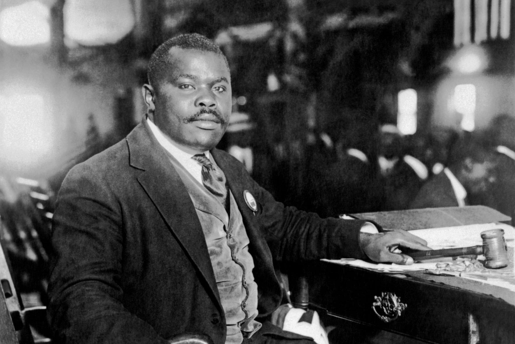 Marcus Garvey At His Desk