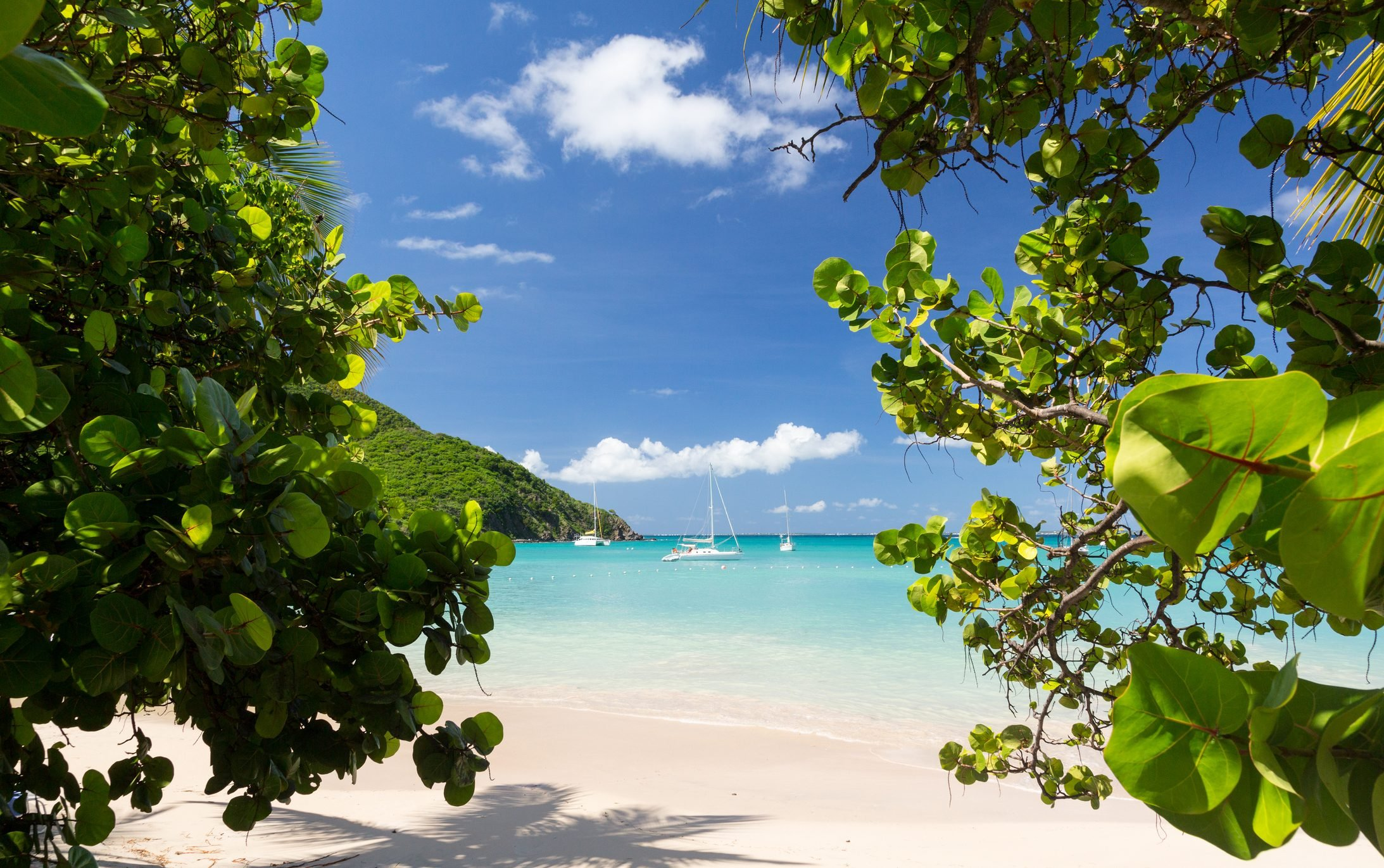 Gorgeous beach at Anse Marcel resort in St Martin