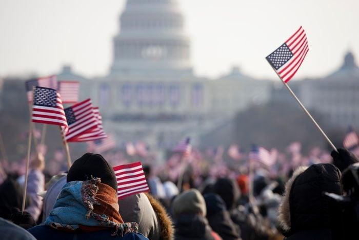 Inauguration Day Crowds for President Barack Obama