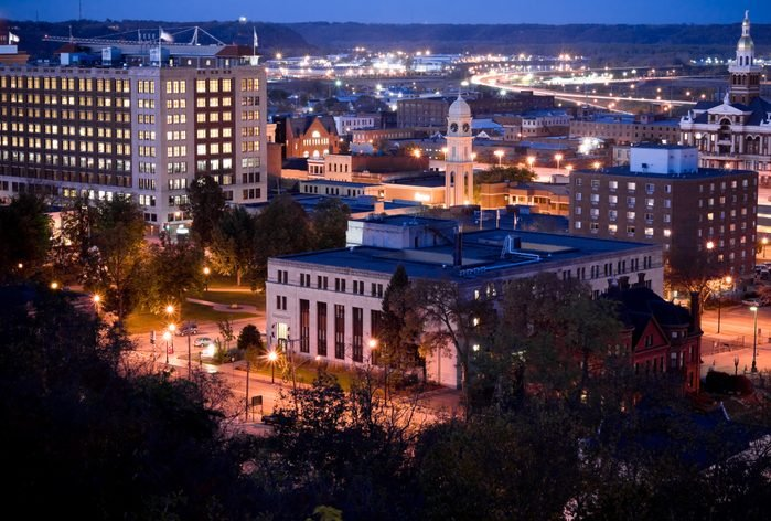 Downtown Dubuque at Night
