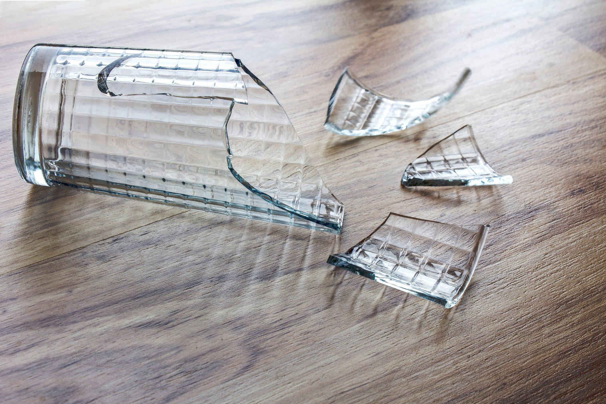 Broken Glass Cup 001