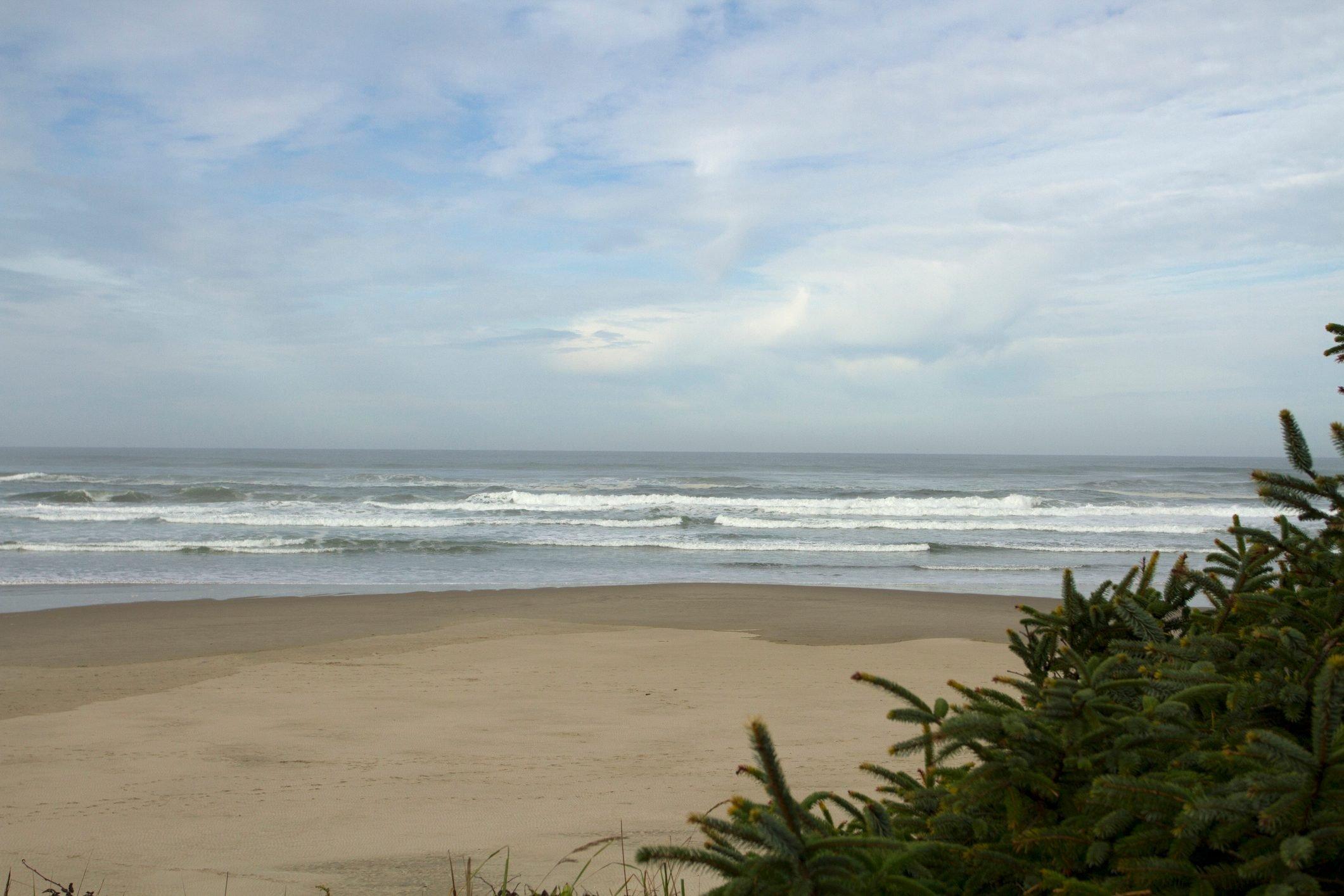 Sandy Beach on Oregon Coast