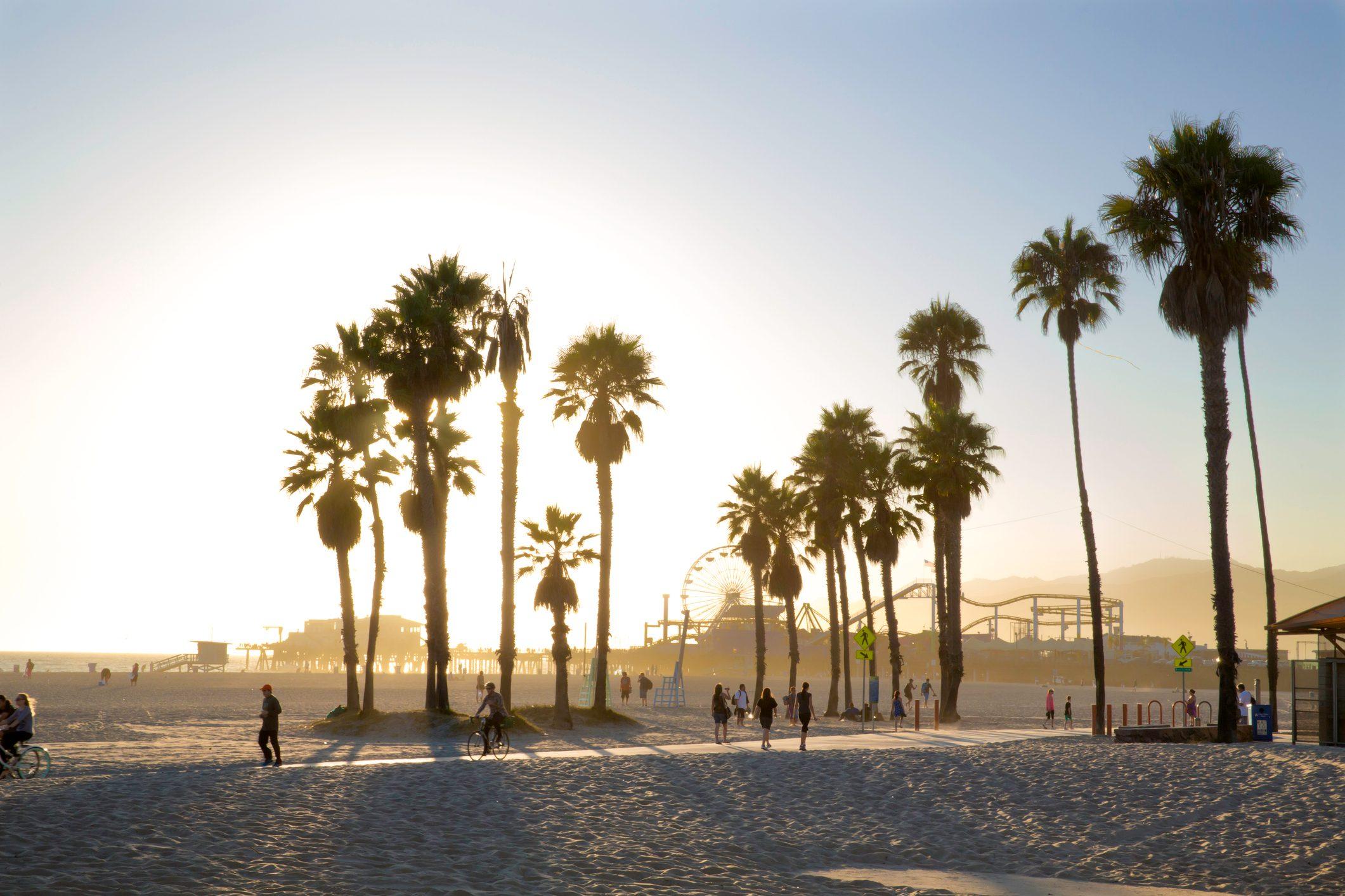 Venice Beach, CA at sunset