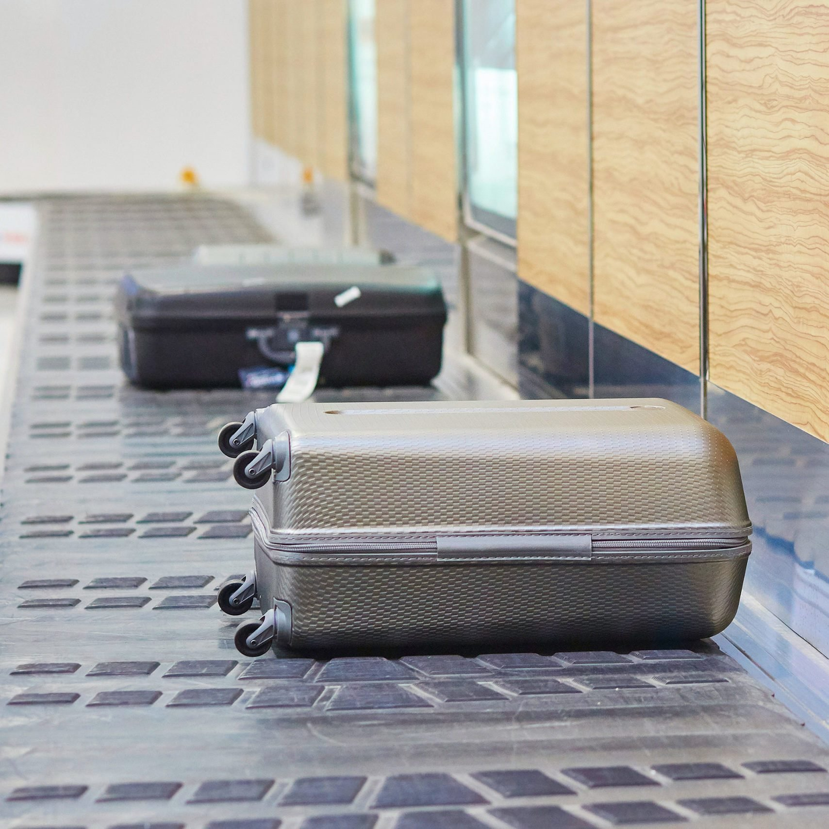 Baggage on conveyor belt