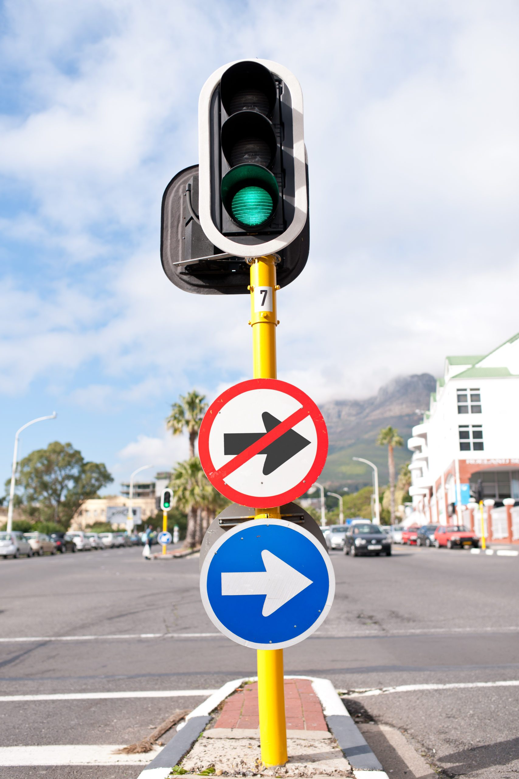 To turn right or not to turn