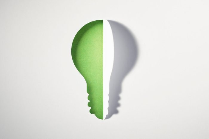 Cut out PaperLight Bulb