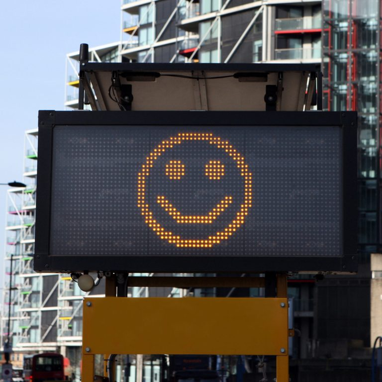 Smiley Street Sign