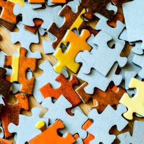 Full Frame Shot Of Jigsaw Pieces