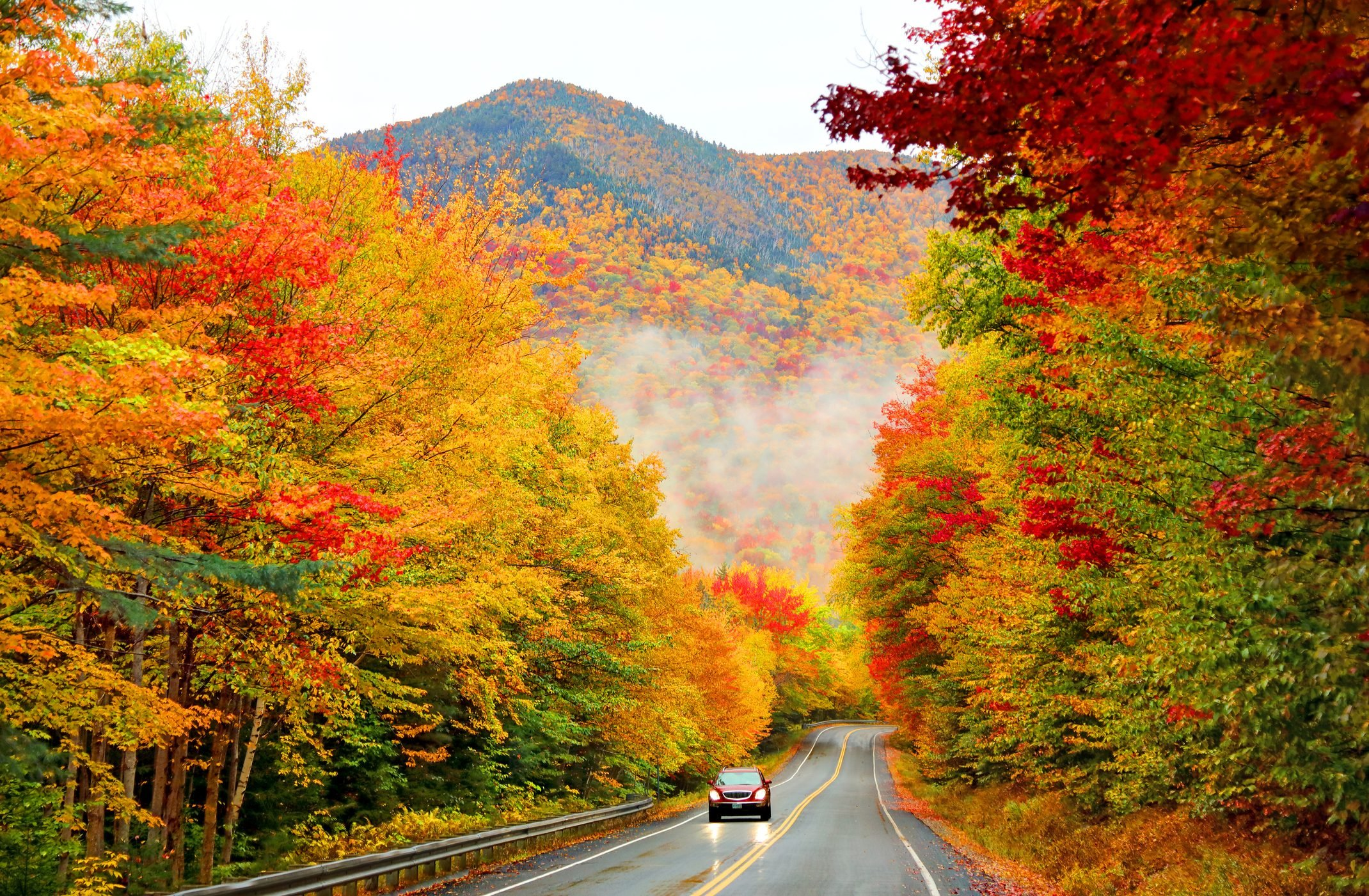 Kancamagus Highway in Northern New Hampshire