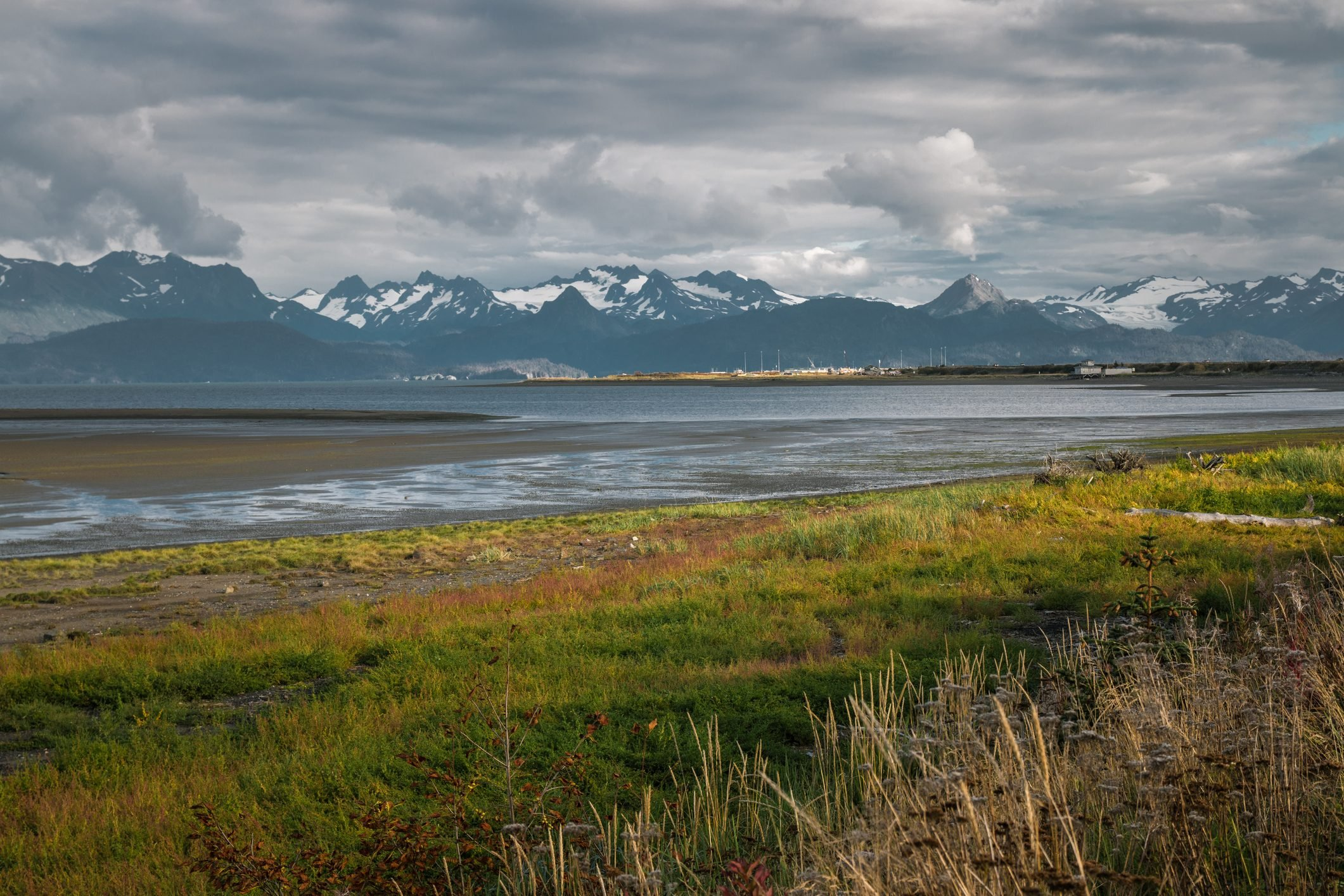 Sea and Mountain View from Homer Spit, Homer, Alaska