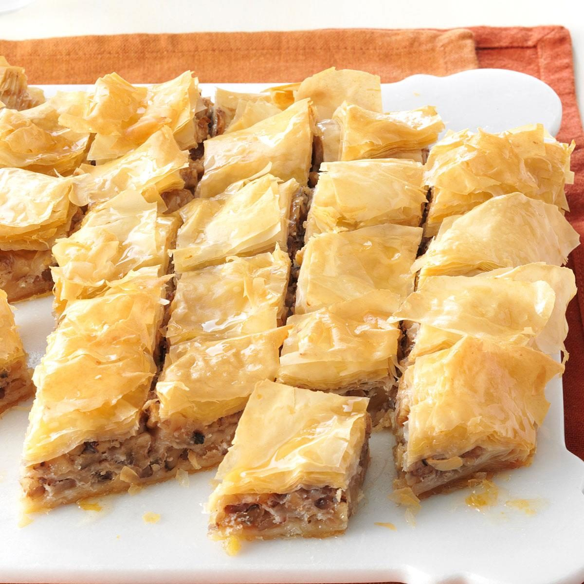honey nut and cream cheese baklava