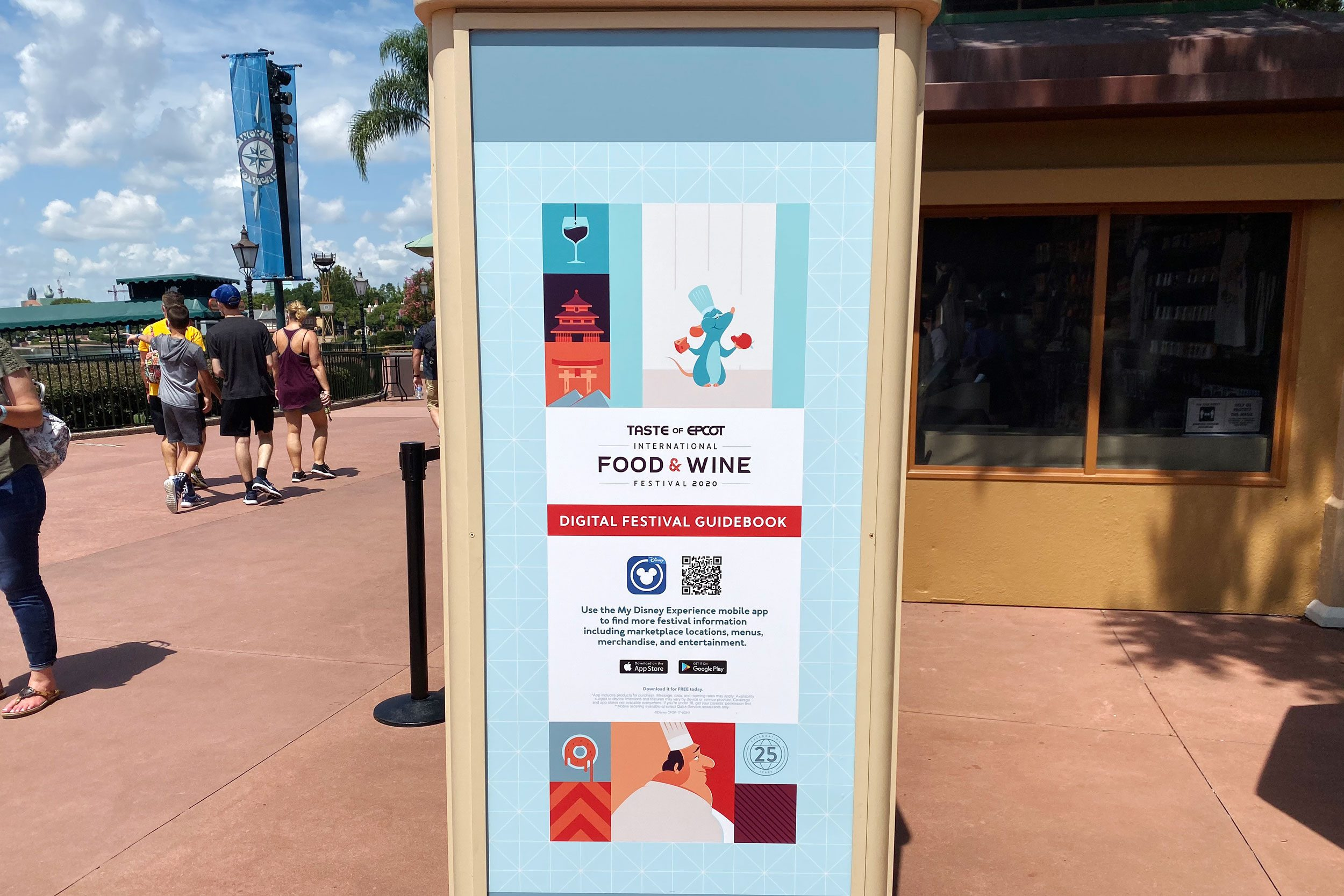 qr code on a sign at disney