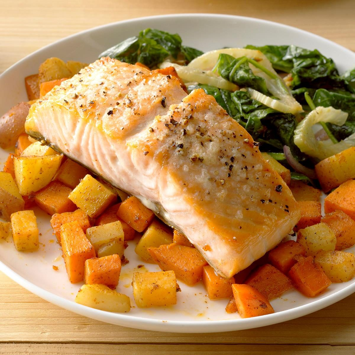 November: Salmon with Root Vegetables