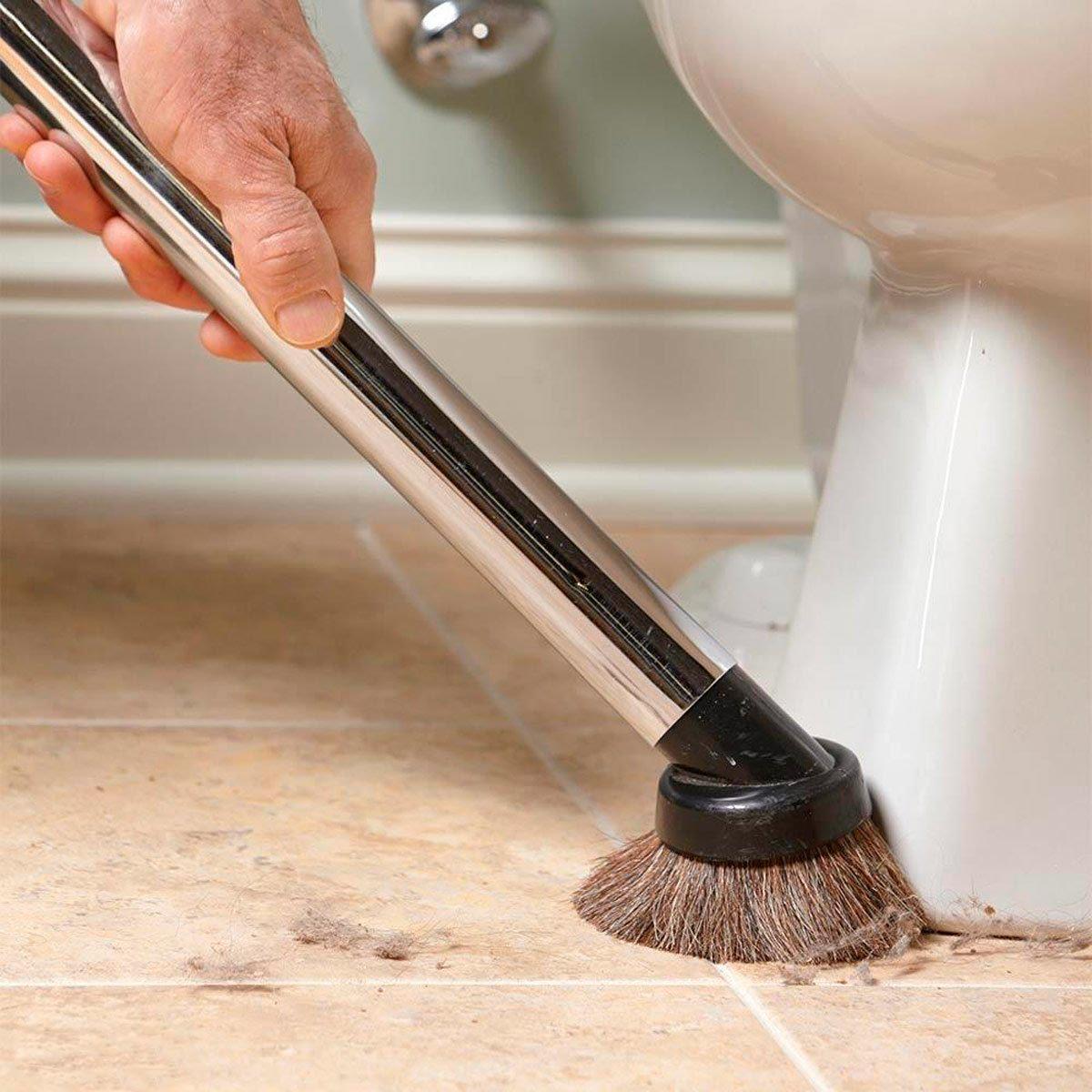 Vacuum first, then scrub