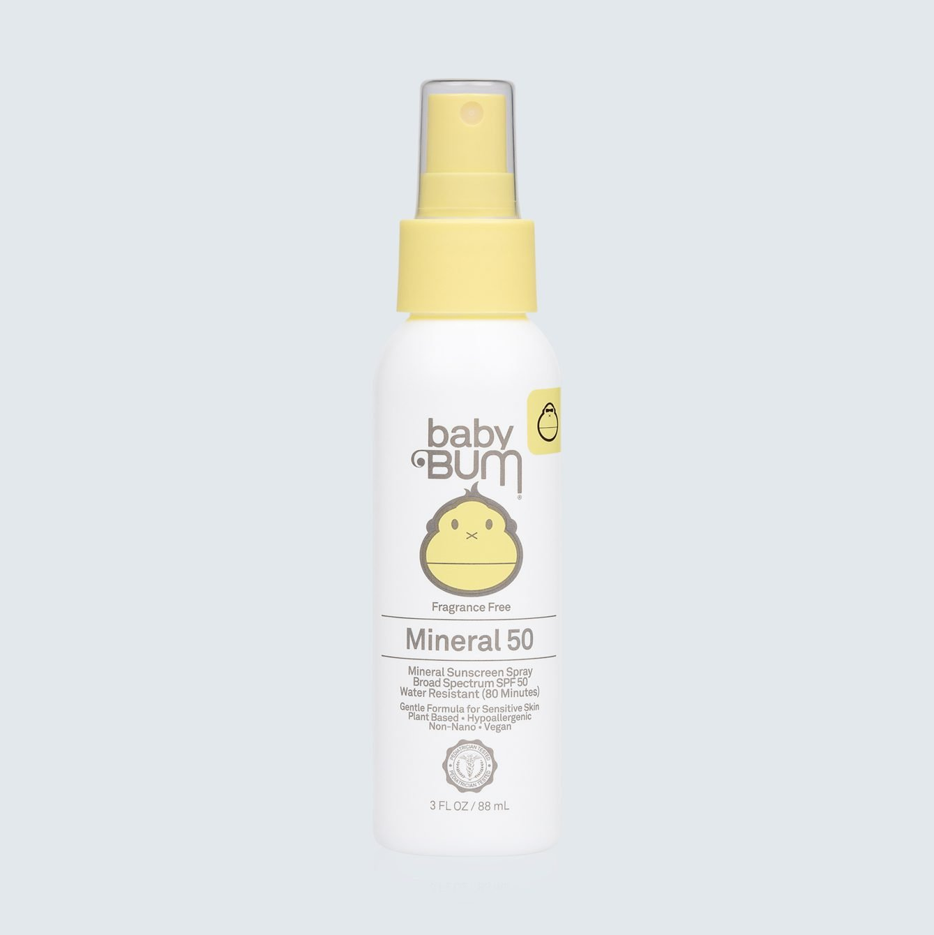 Baby Bum Mineral SPF 50 Sunscreen Spray-Fragrance Free.