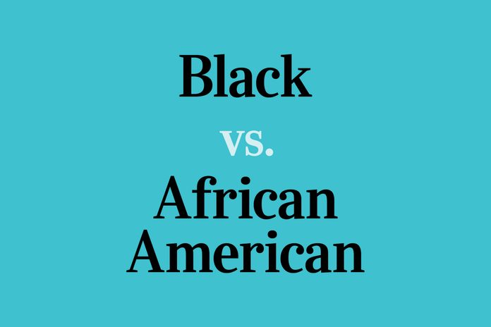 text: Black vs. African American