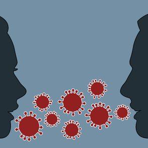 coronavirus and talking concept
