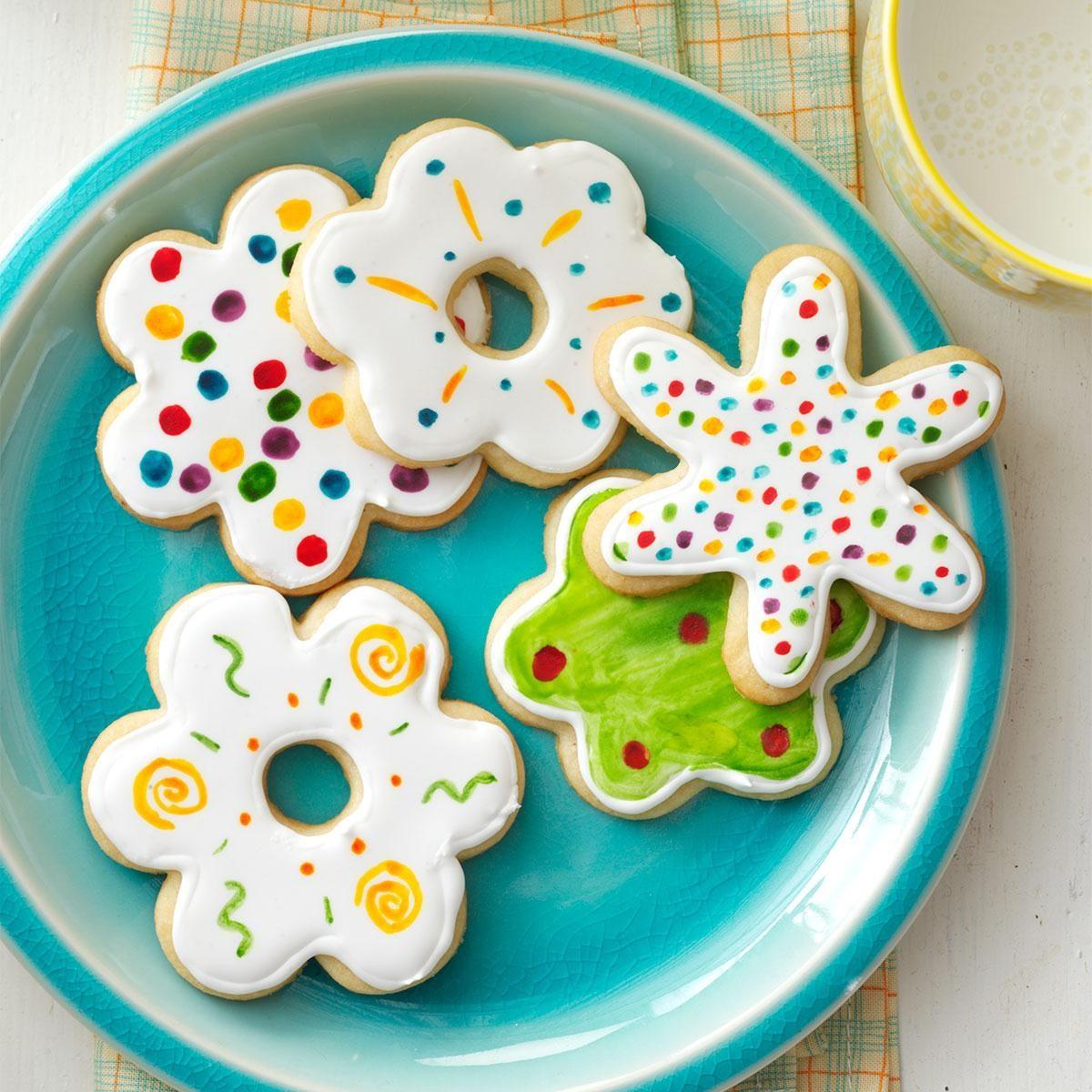 iced flower cookies