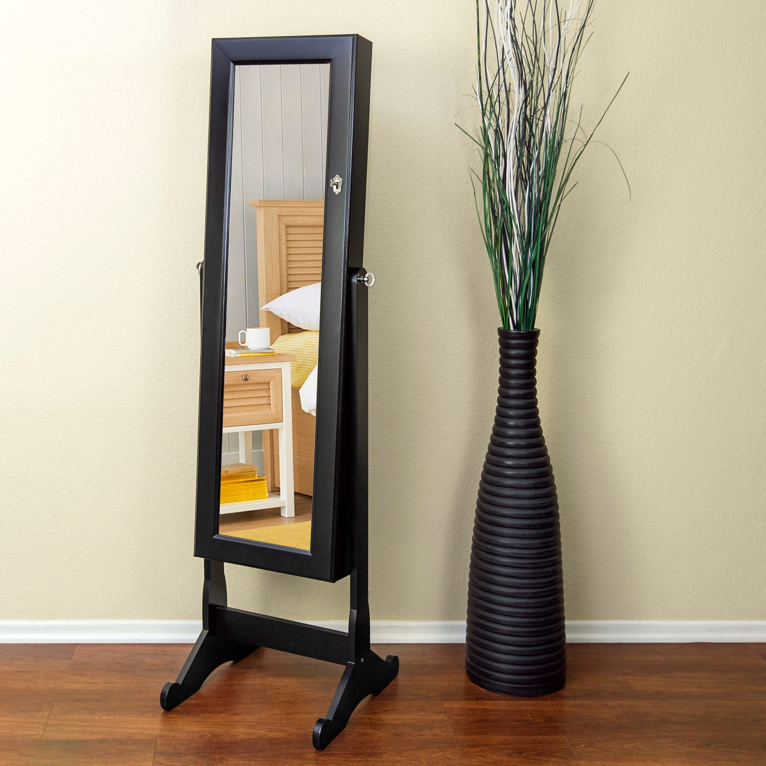 mirror with hidden compartment
