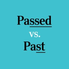 text: passed vs. past
