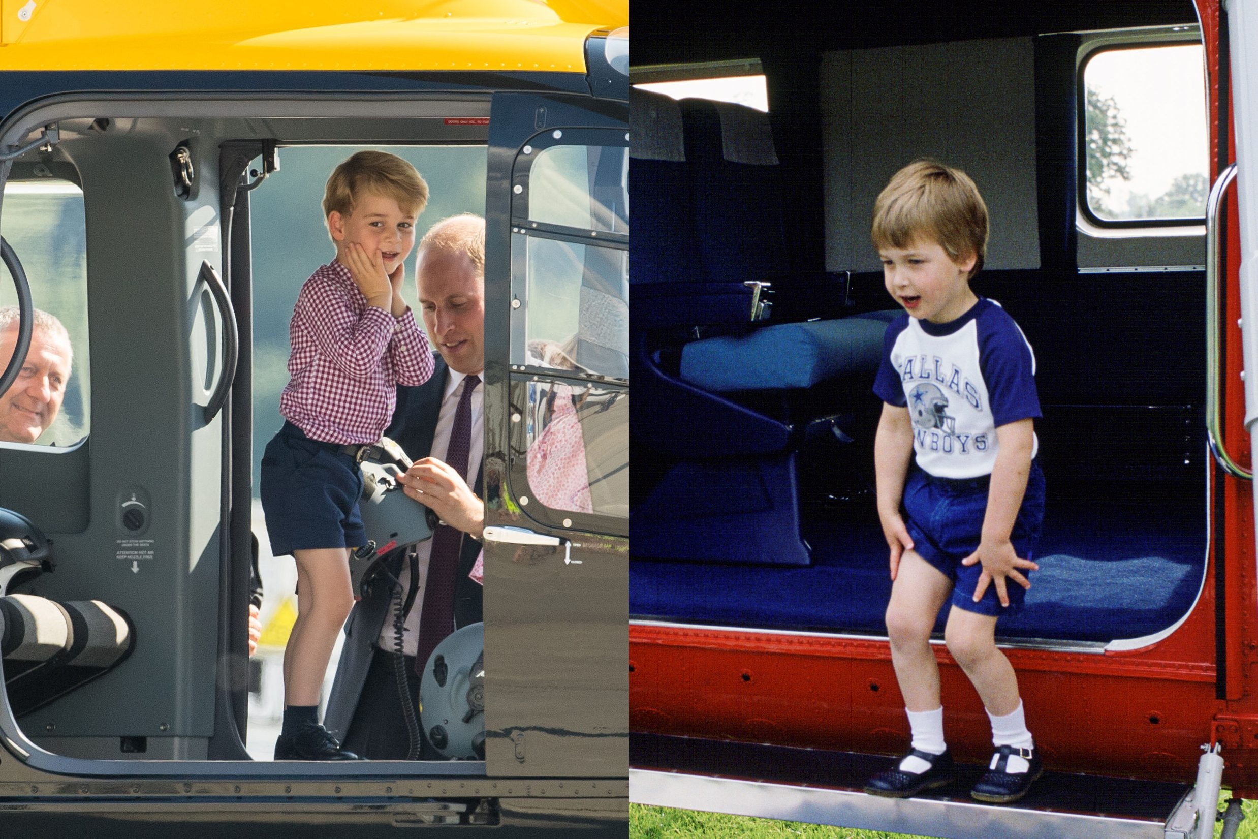 excited royal family George and William