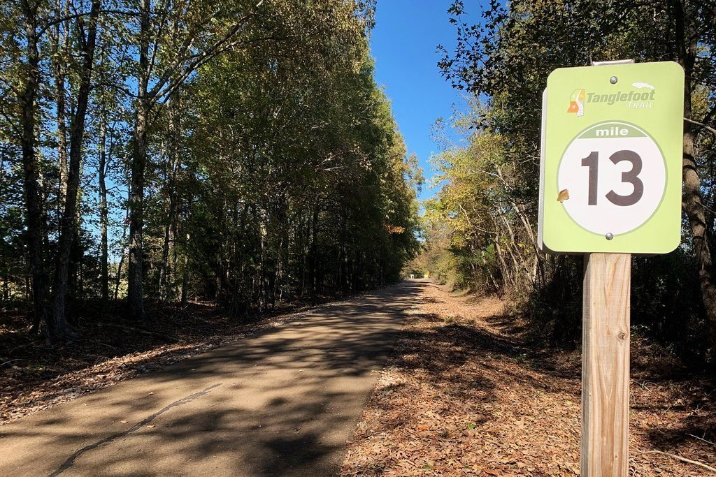 Bike trail mile marker