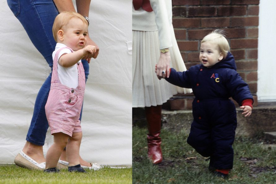 walking George and William royal family