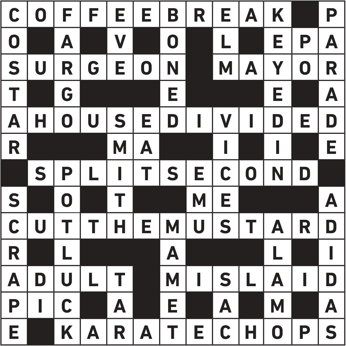 may20 crossword answers