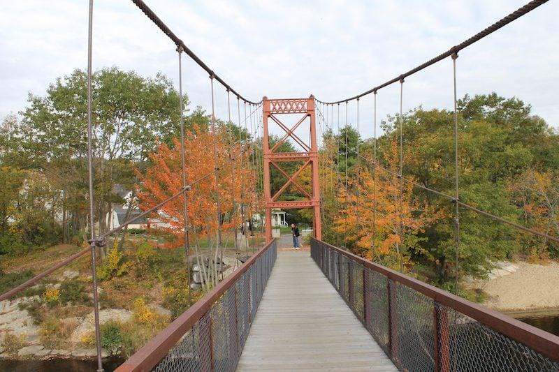 Androscoggin Swinging Bridge, Brunswick and Topsham, Maine