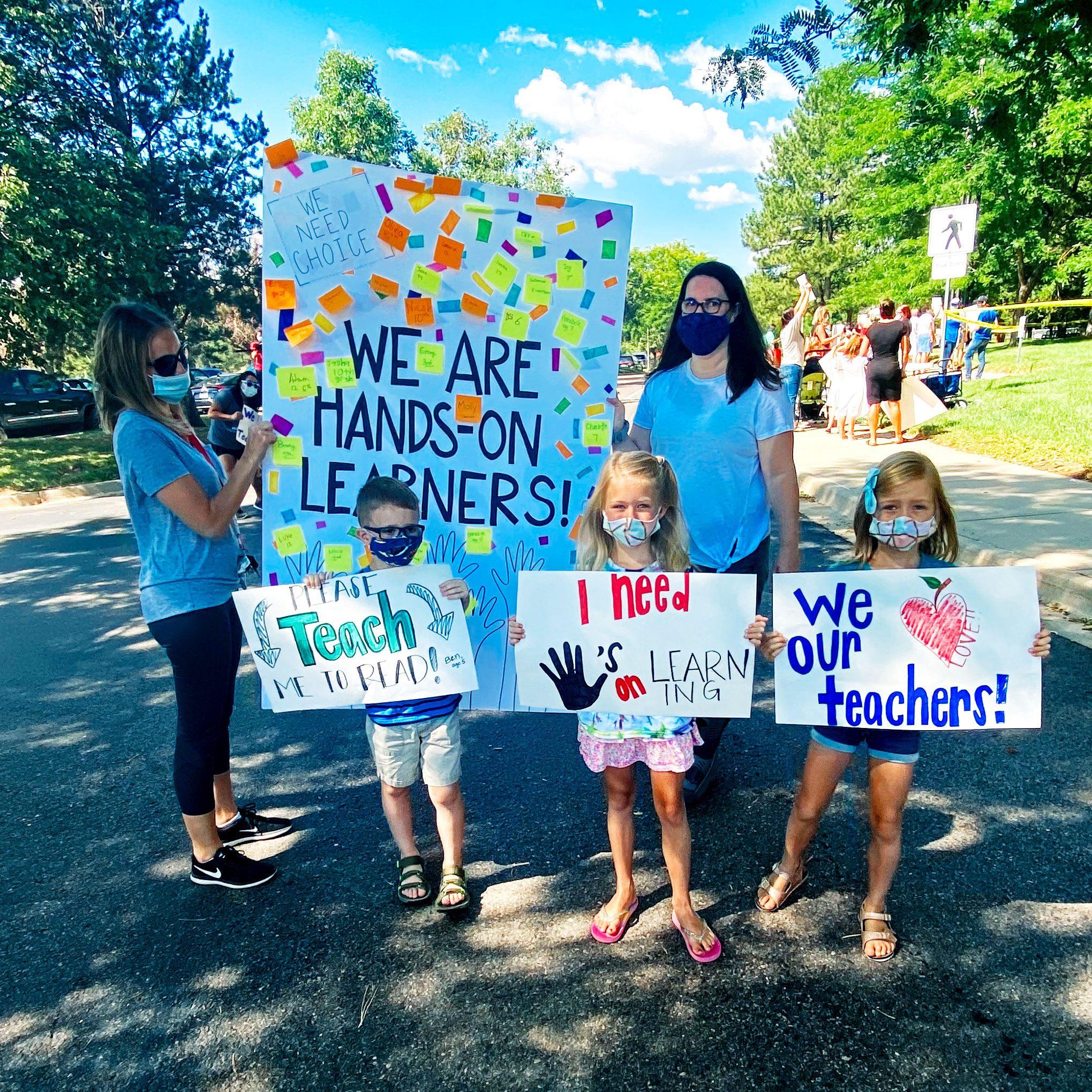 protesting closed schools