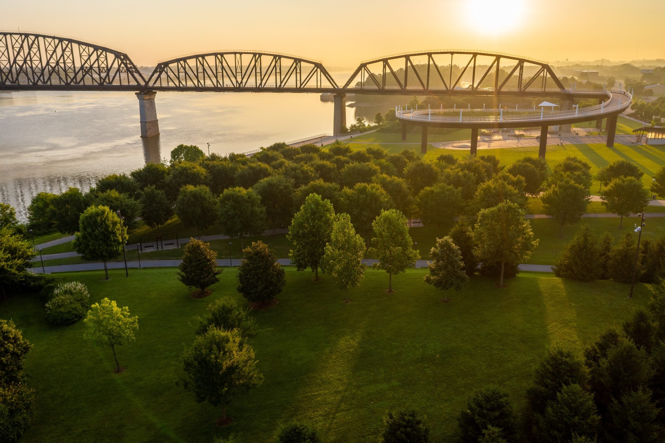 Big Four Bridge Indiana and Kentucky